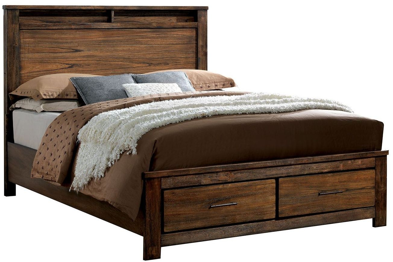 Elkton Oak Cal King Platform Storage Bed Cm Ck