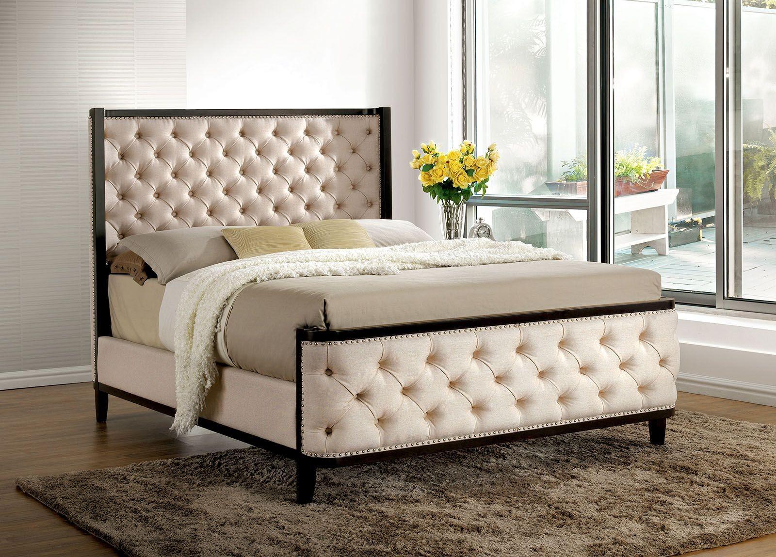 Chanelle King Upholstered Panel Bed Cm Ek Furniture
