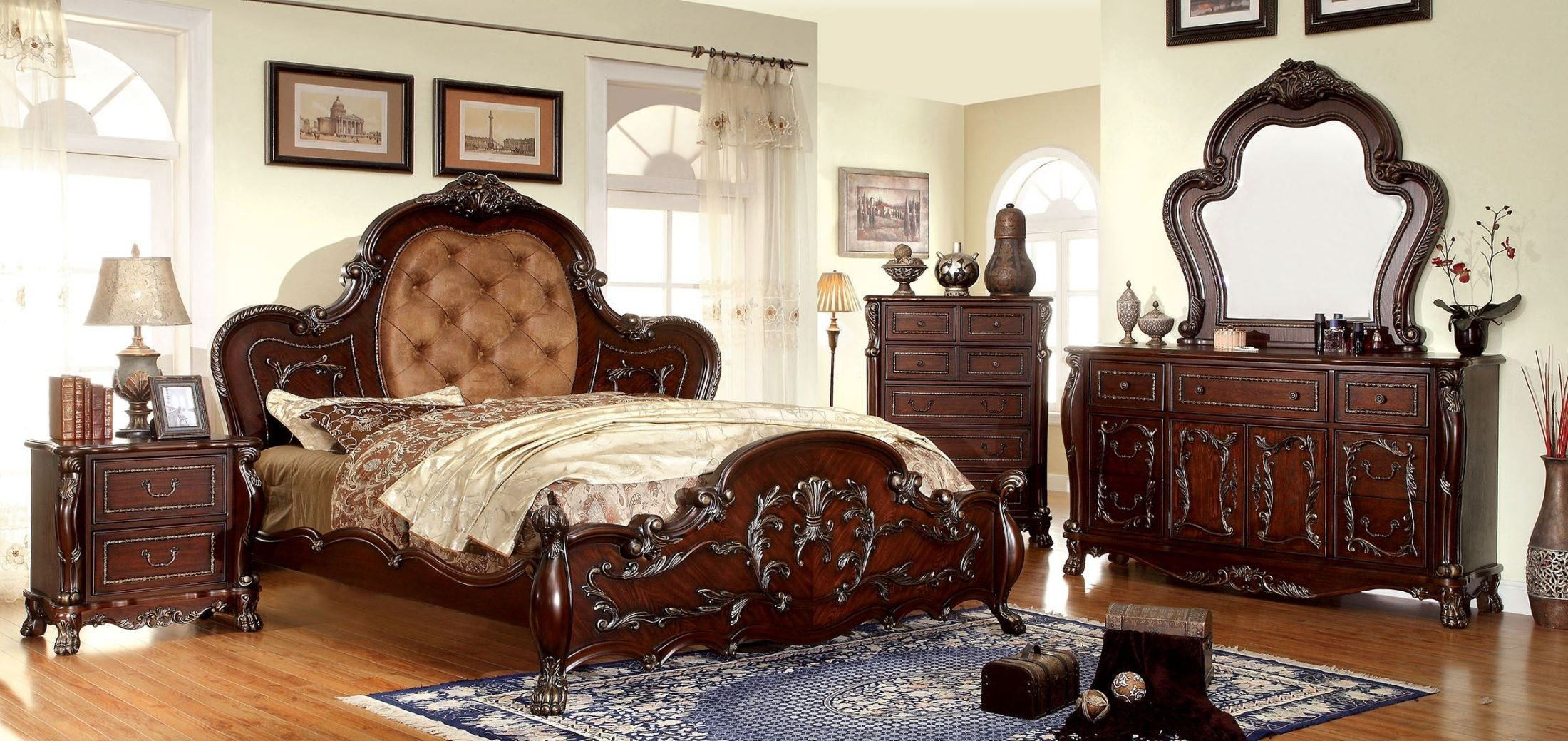 Castlewood Cherry King Platform Bed From Furniture Of