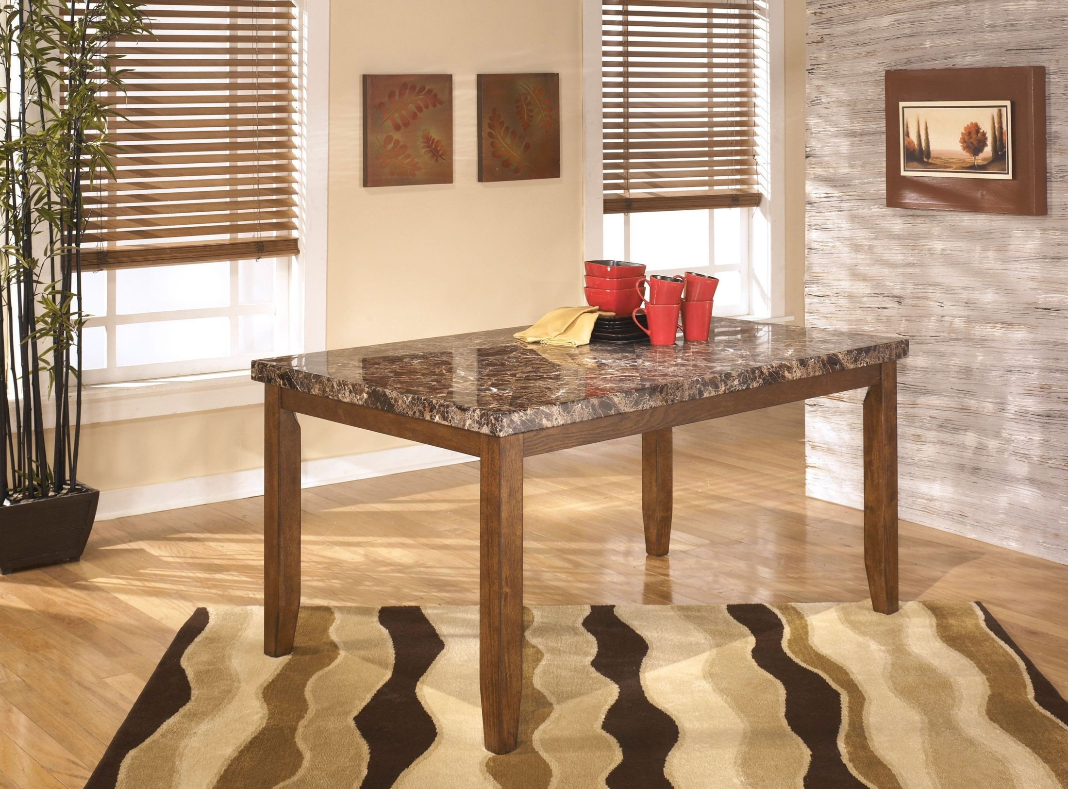 Lacey Rectangular Dining Table From Ashley D328 25
