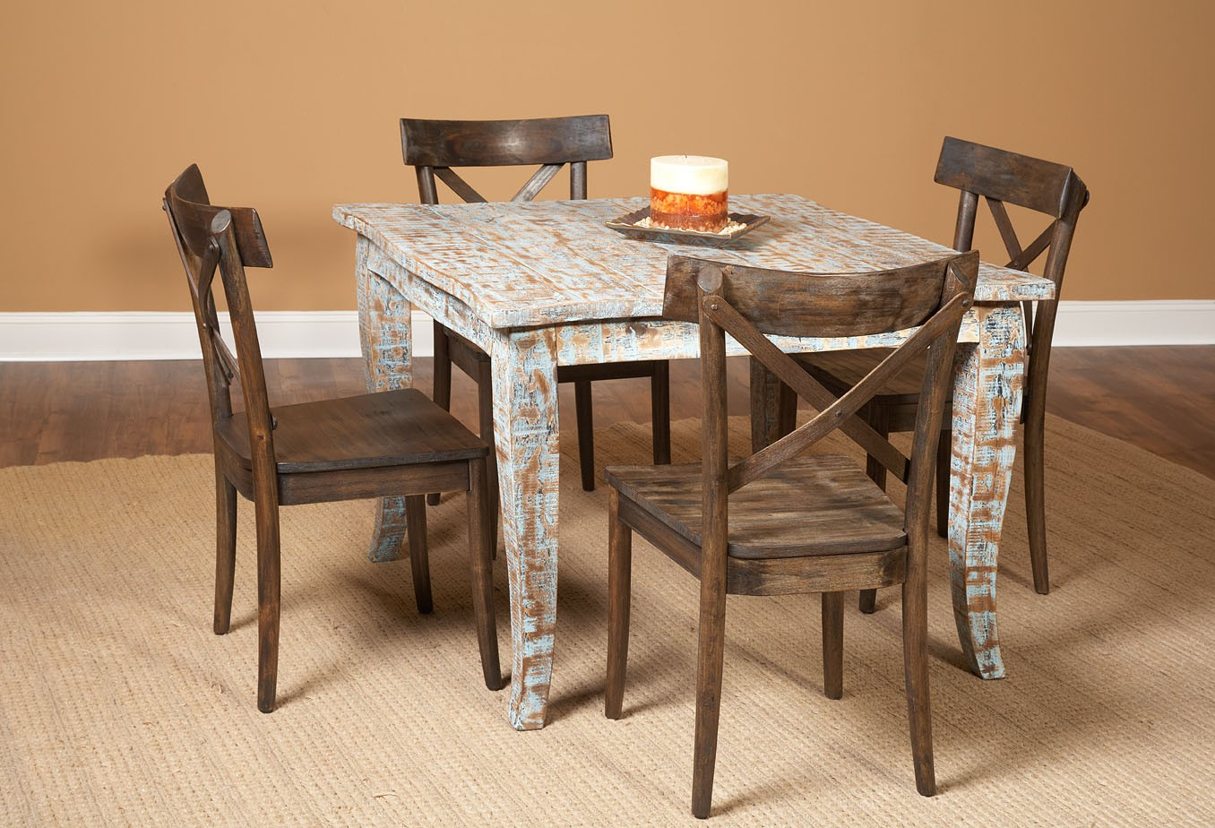 artisan hand painted square dining room set d373 31 on hand painted dining room tables id=63578