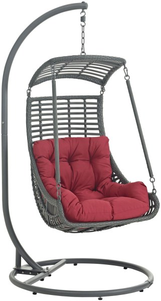 outdoor patio swing chair with stand Jungle Red Outdoor Patio Swing Chair With Stand, EEI-2274