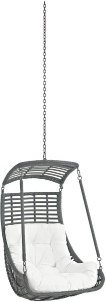 outdoor patio swing chair with stand Jungle White Outdoor Patio Swing Chair Without Stand, EEI