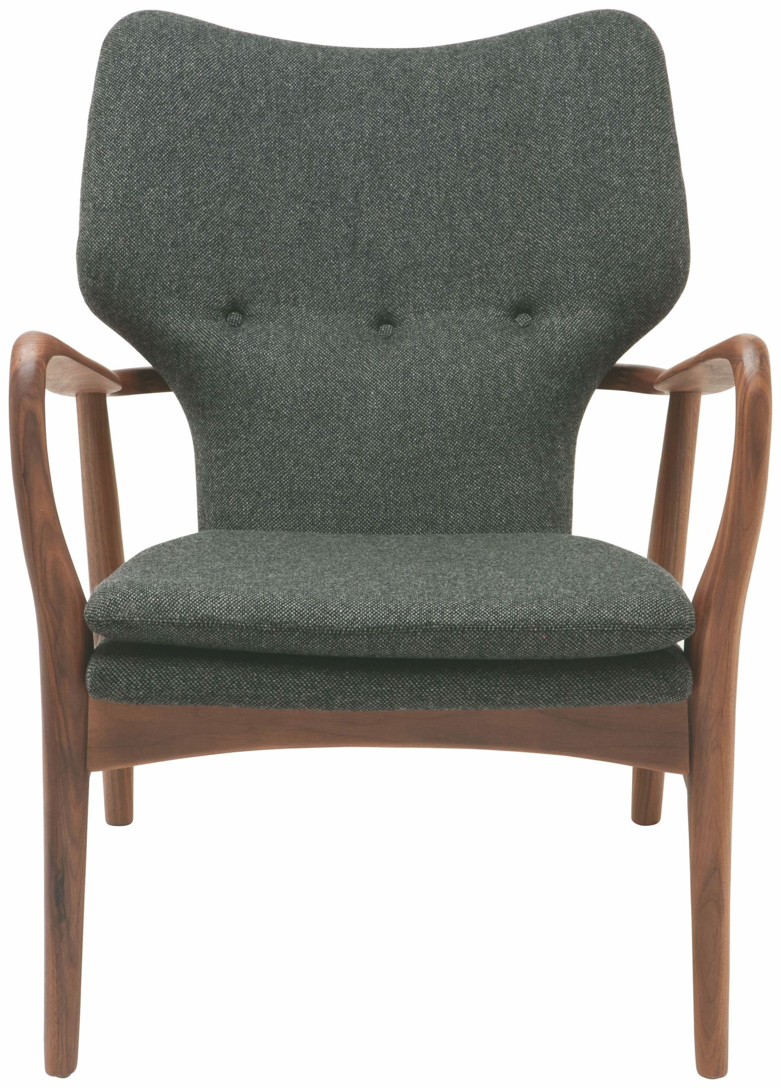 Patrik Medium Grey Fabric Occasional Chair HGEM483 Nuevo