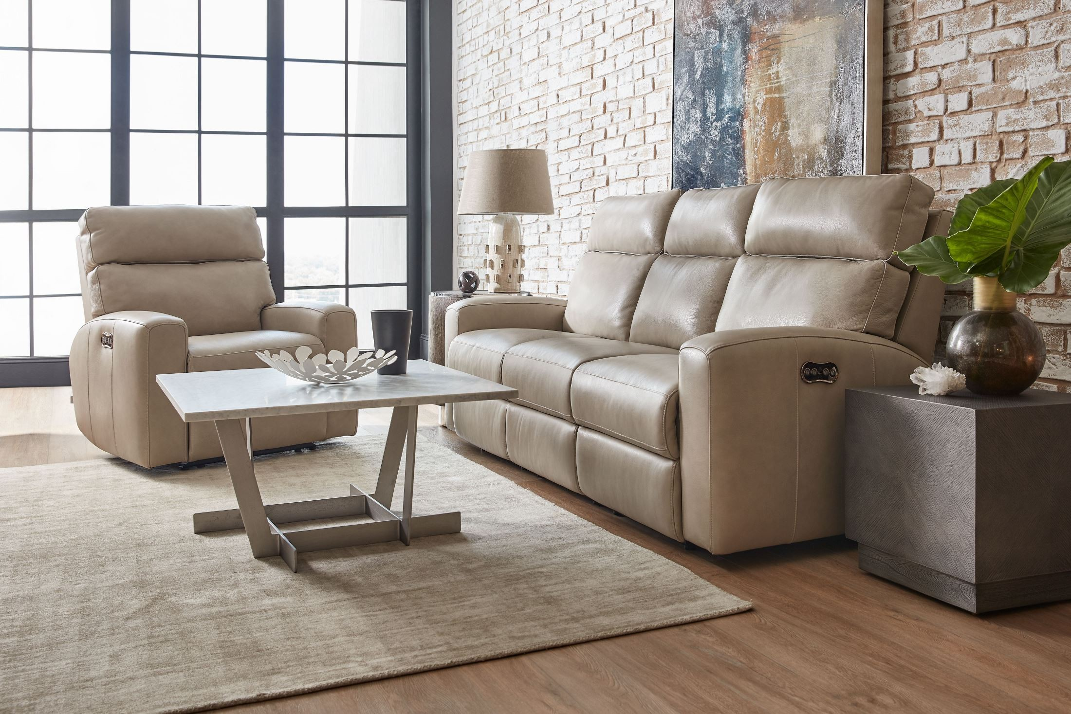 Mowry Gray Power Motion Living Room Set From Hooker