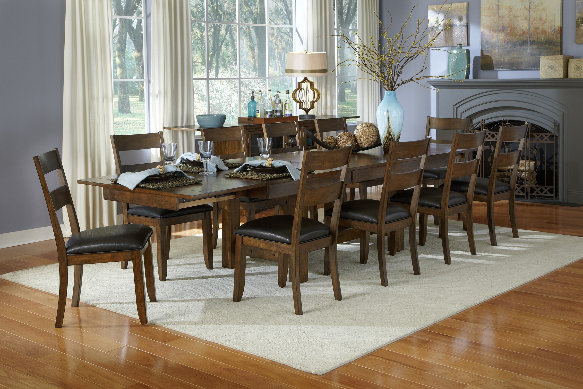 Mariposa 132 Rustic Whiskey Extendable Trestle Dining Room Set From A America Coleman Furniture