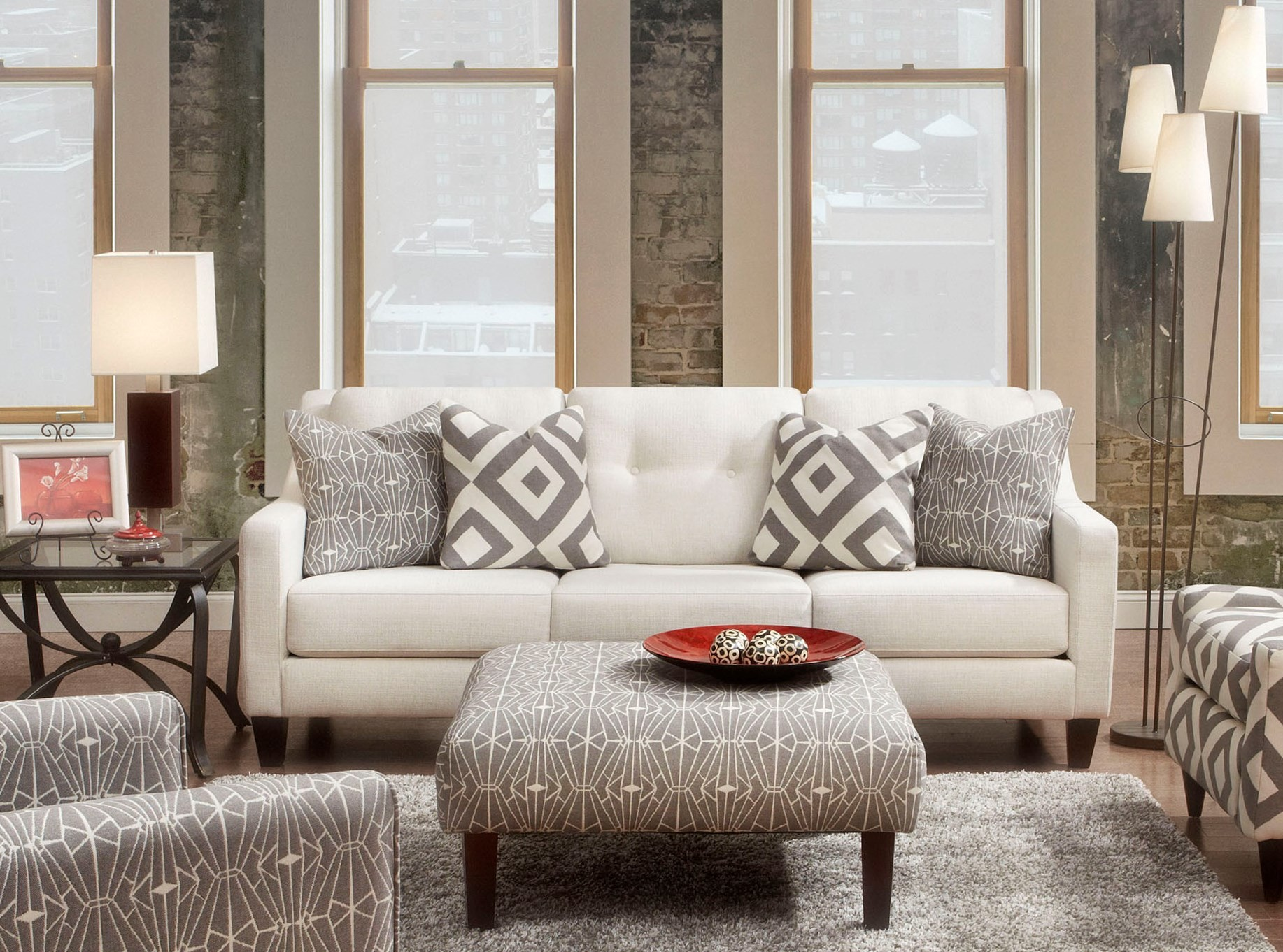Parker Ivory Living Room Set From Furniture Of America