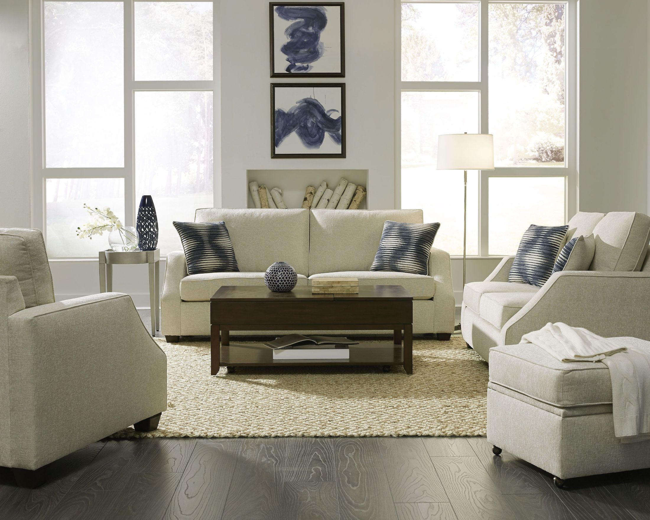 Hadley Ivory Living Room Set From Progressive Furniture