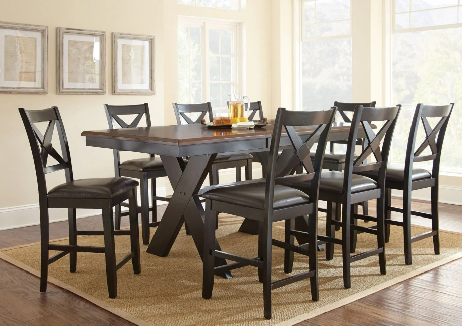 Violante Extendable Rectangular Counter Height Dining Room ...