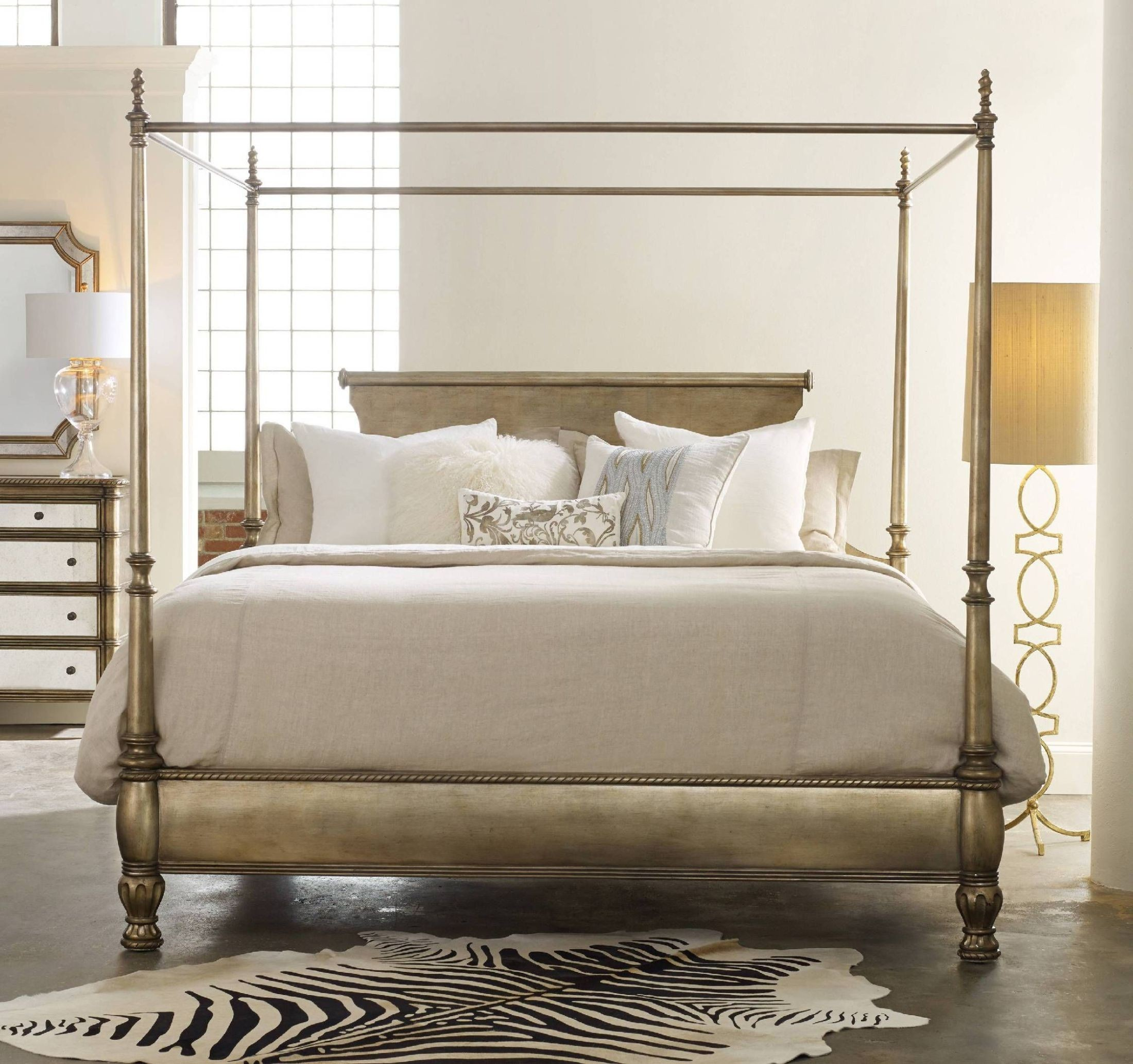 Montage Gold King Canopy Bed From Hooker