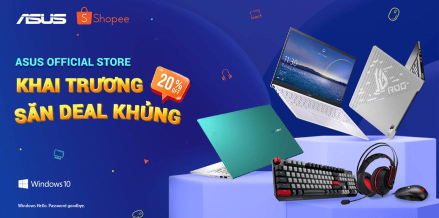 ASUS Việt Nam khai trương ASUS Official Store trên Shopee