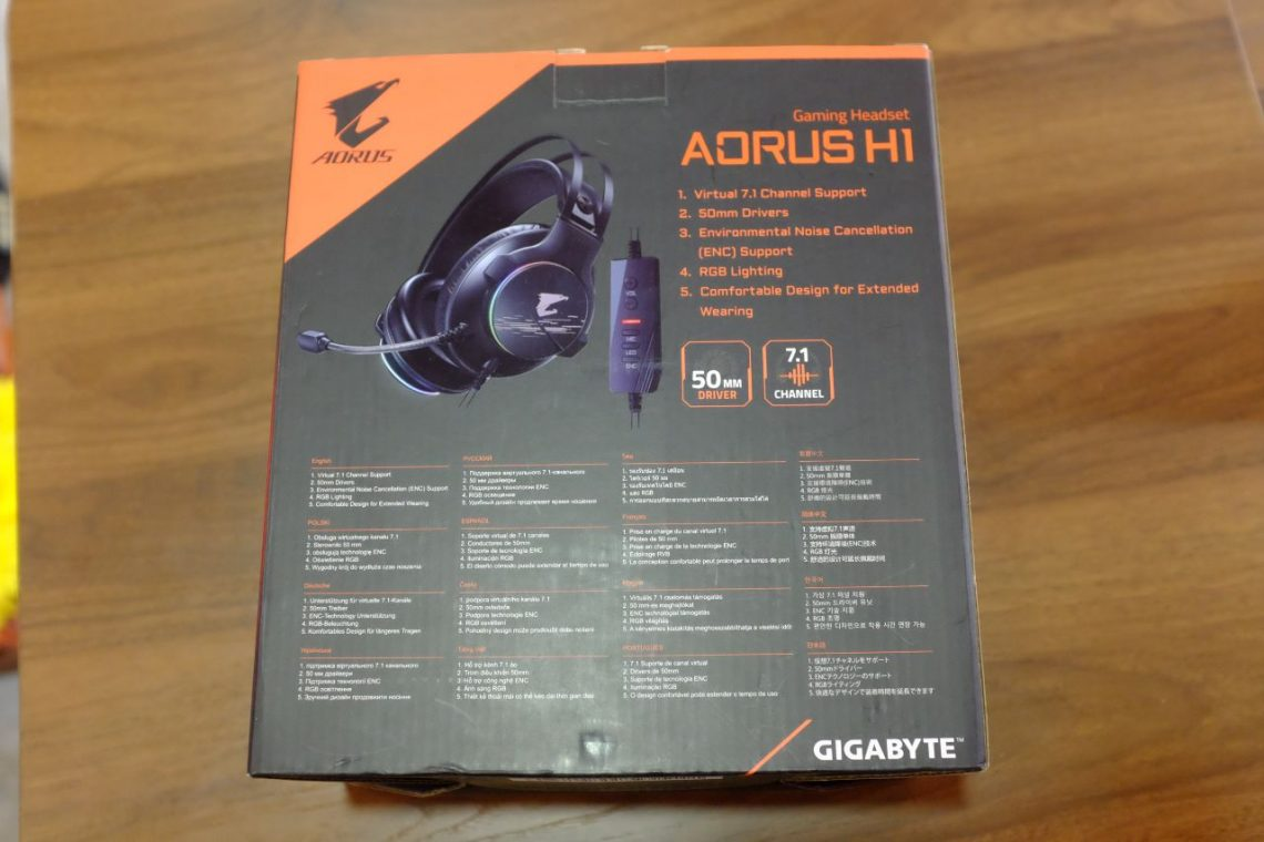 AORUS H1 GAMING HEADSET - Đánh Giá Gaming Gear