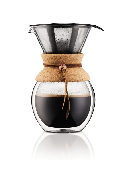 POUR OVER: Coffee Maker 8 cup, double wall