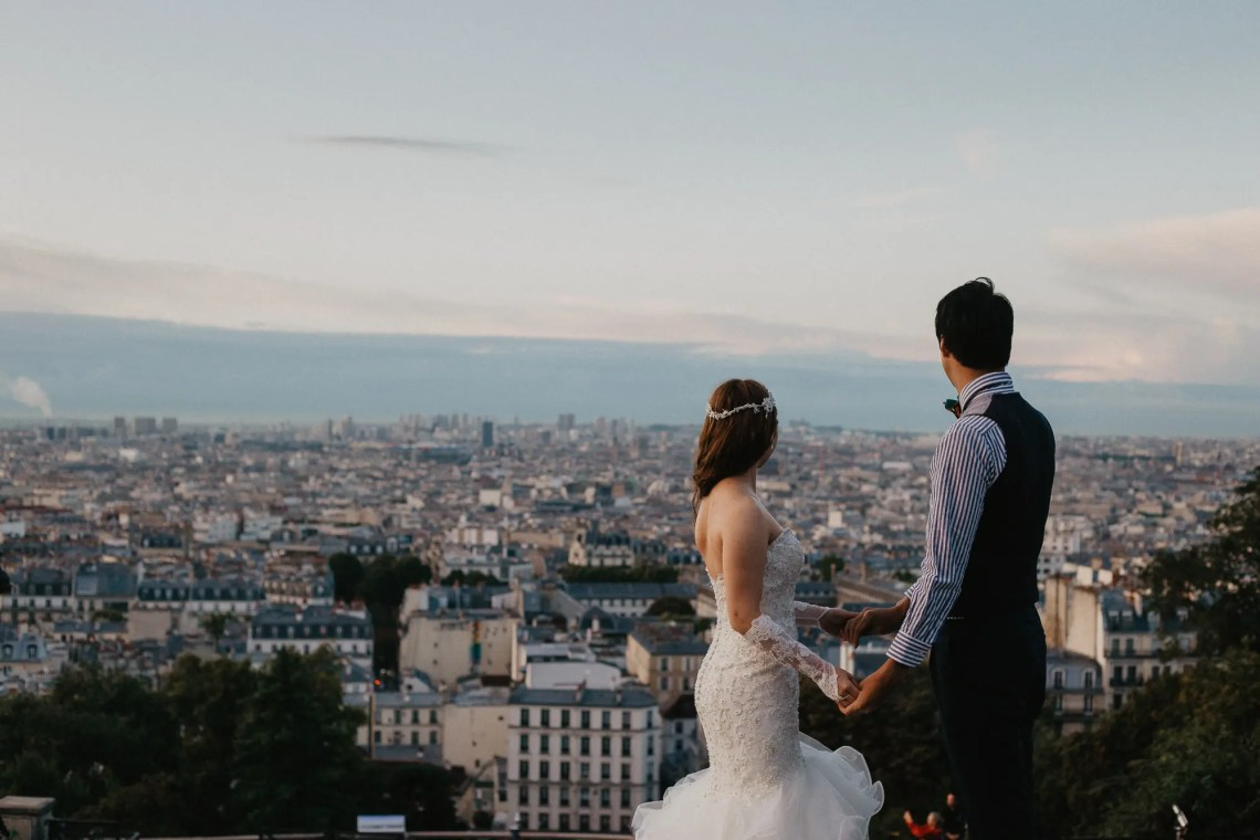 After wedding paris montmartre photography