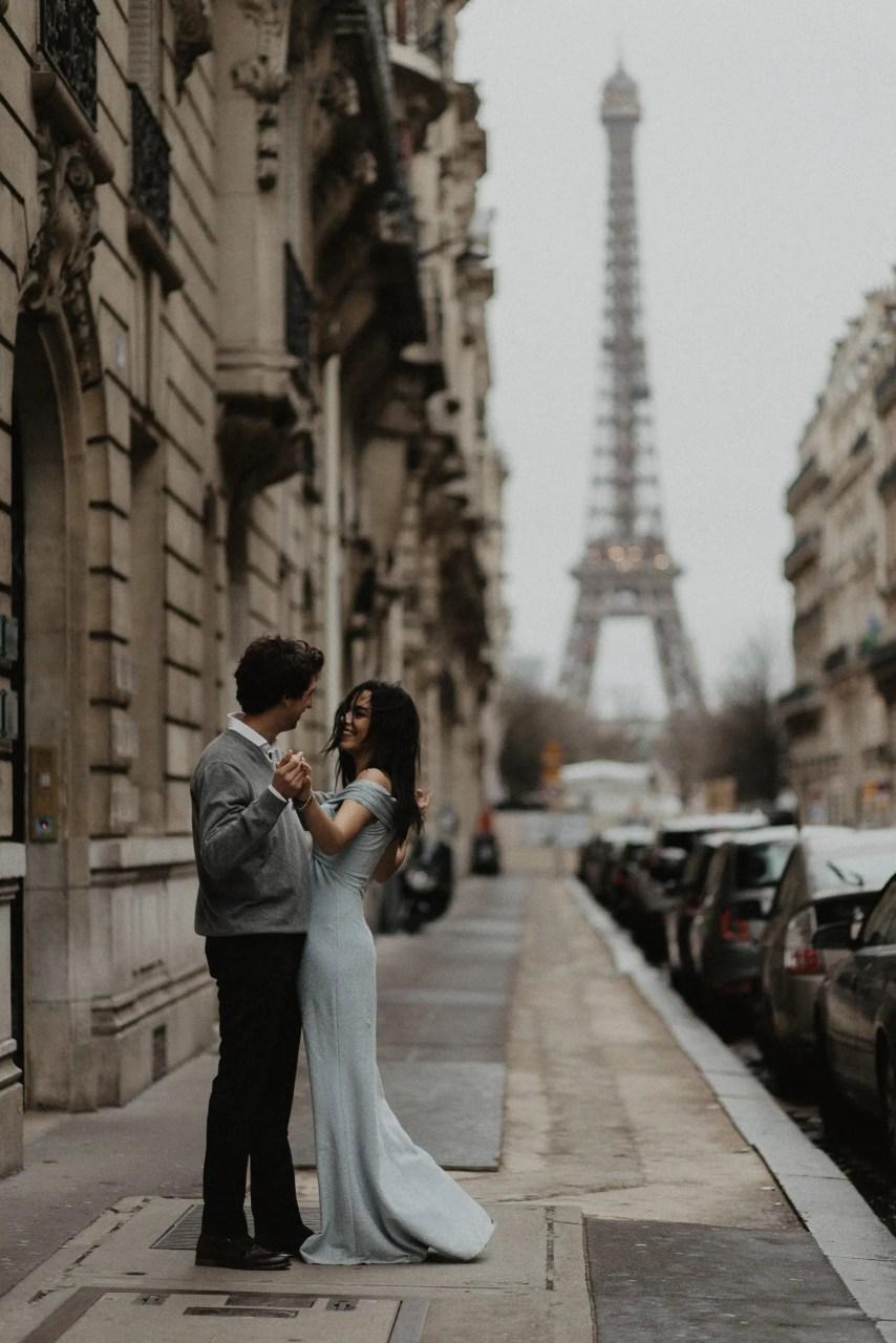Fine art Engagement photography Eiffel tower Paris
