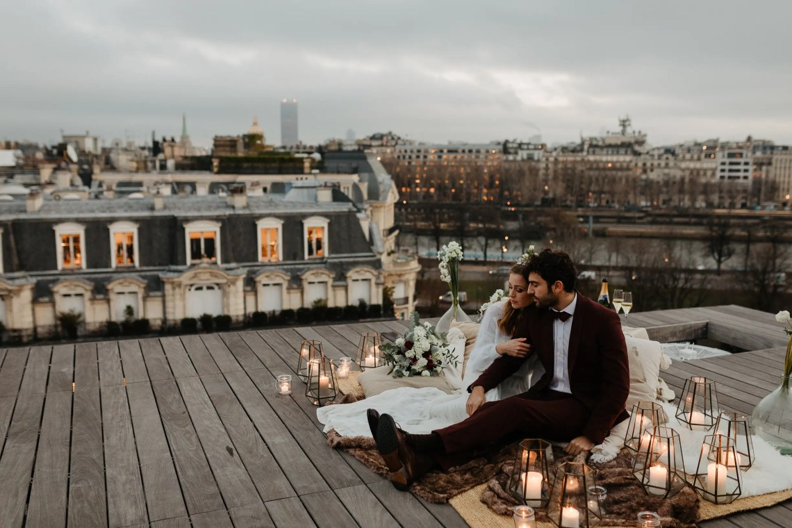 1U1A2605 Parisian Winter Rooftop Elopement Weddings Weddings & Couples  Couple Photography in Paris eiffel tower elopement photography paris feature mariage hiver paris mariage photographe winter wedding paris