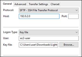SFTP を使用して Amazon Lightsail の Linux または UNIX インスタンスに ...