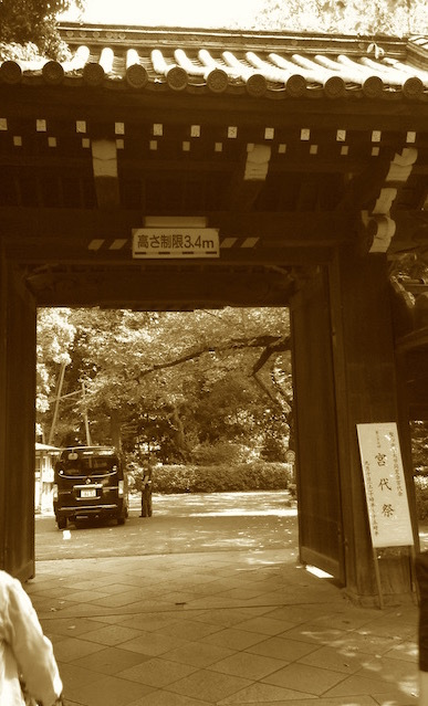 伝統溢れる正門