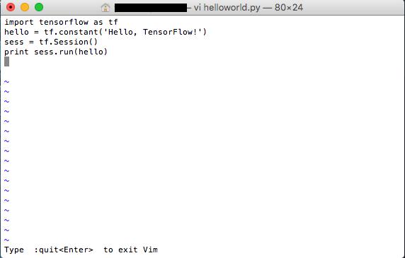 ctrl+cでexitできるようにして:wqで保存して終了