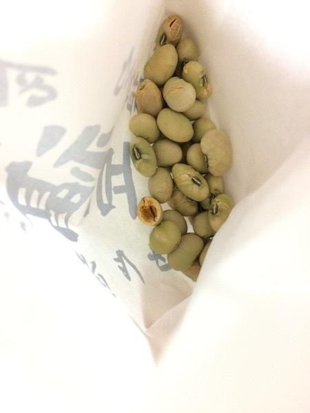 タダで食べる豆は美味しい