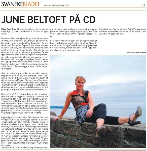 June Beltoft Svanekebladet sep2013
