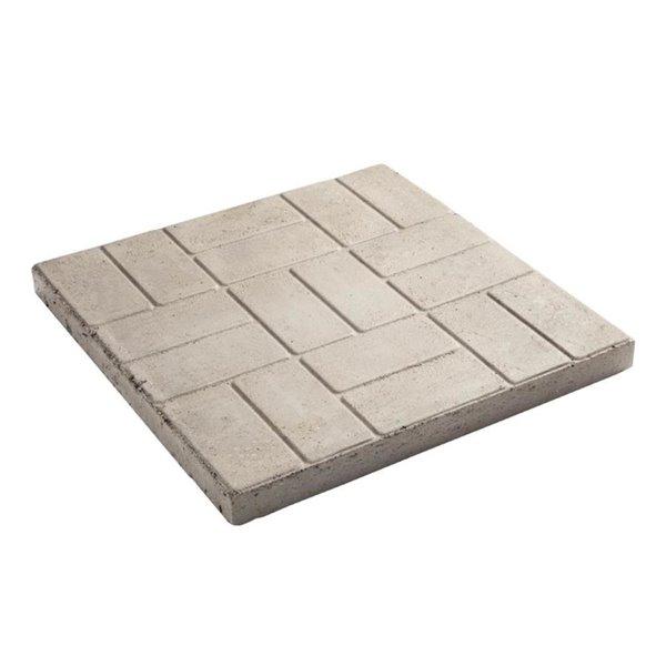 oldcastle 24 in l x 24 in w gray square patio stone