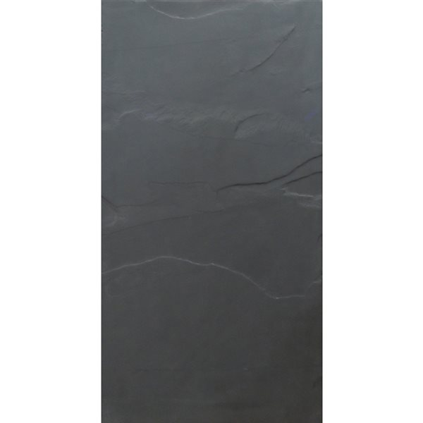 avenzo 24 in x 12 in black natural slate wall and floor tile