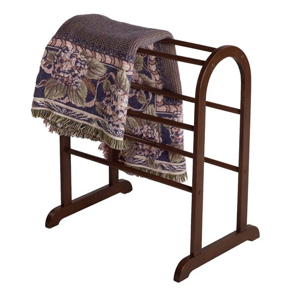 winsome wood 30 in antique walnut eleanor quilt rack