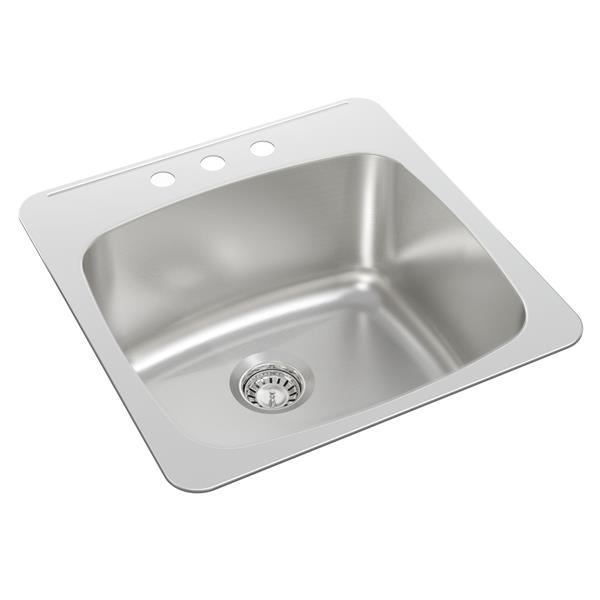 wessan stainless steel drop in utility sink 20 1 2 in x 20 in x 10 in