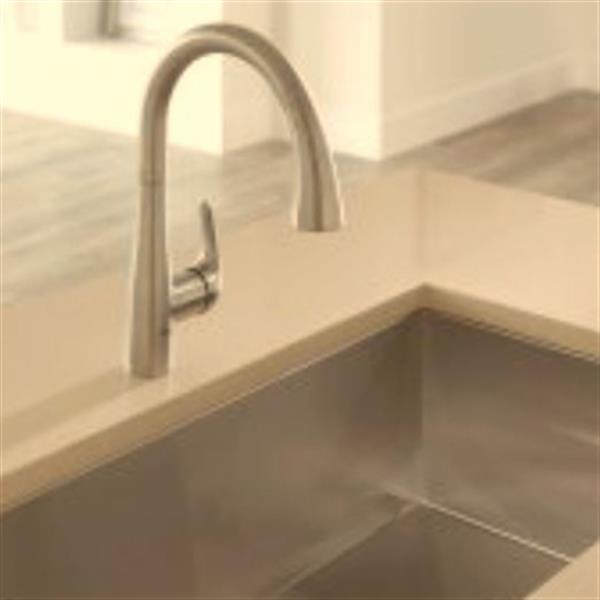 grohe elberon 14 62 in dual spray pull down kitchen faucet