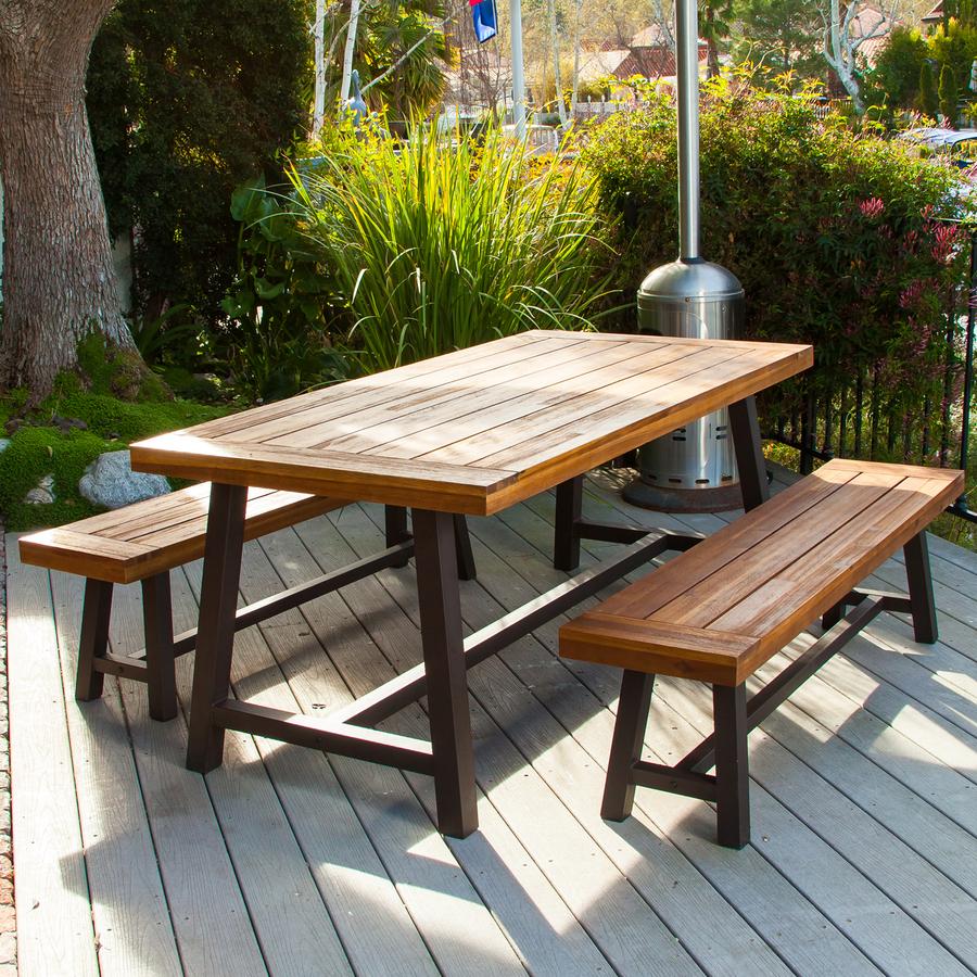 best selling home decor carlisle outdoor dining set rustic iron sandblast wood