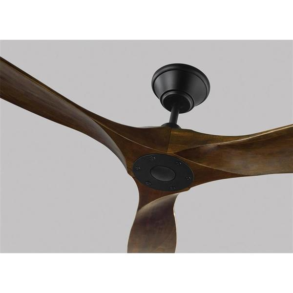 monte carlo fan company maverick 60 in matte black indoor outdoor ceiling fan and remote 3 blade energy star