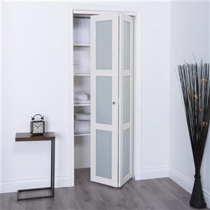 reliabilt 24 in x 80 in white frosted glass closet on Reliabilt Colonist 24 In X 80 In White 6 Panel Primed id=45016