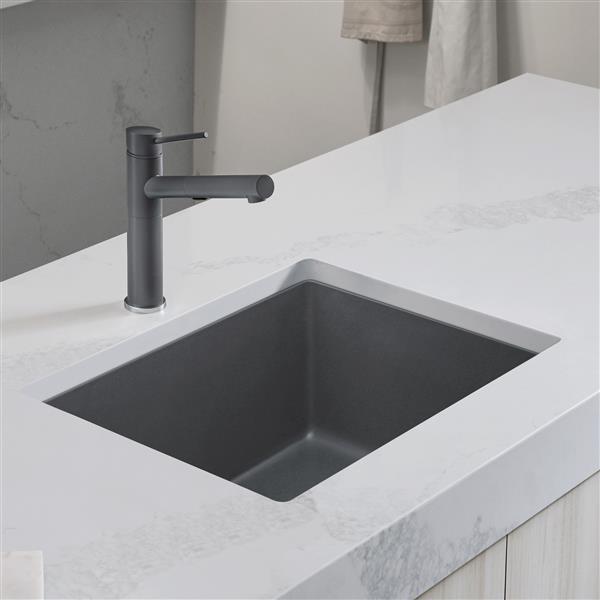 blanco precis single undermount sink ash 24 in