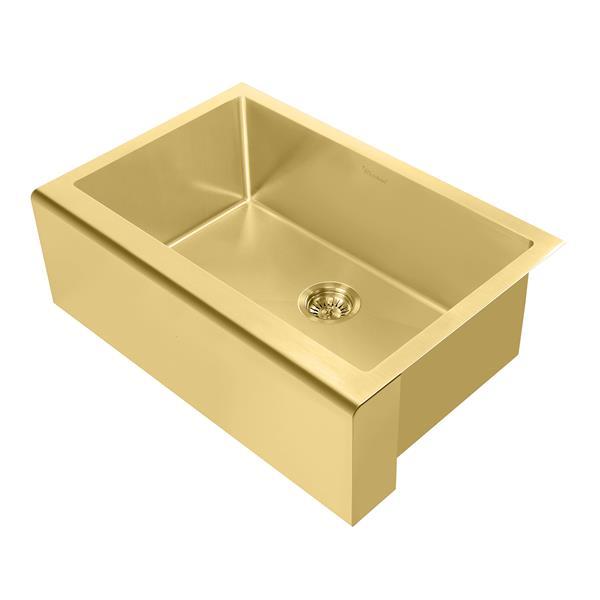 whitehaus collection undermount front apron kitchen sink single bowl brass