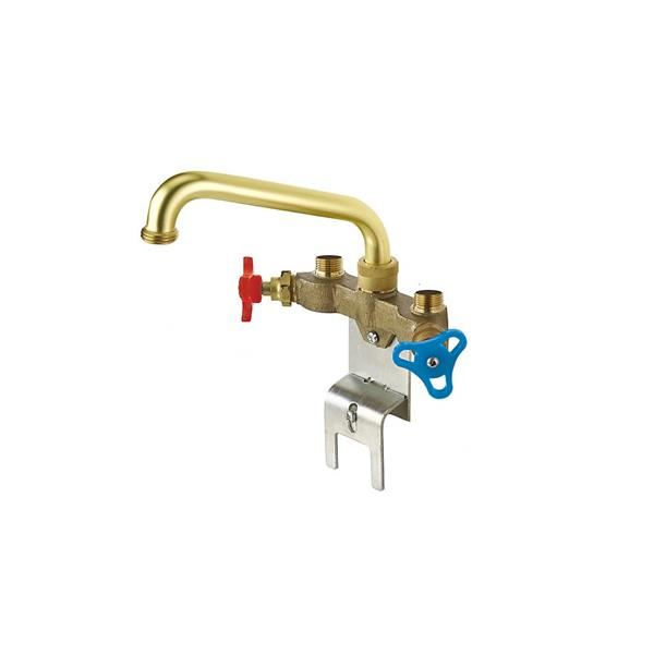 delta two handle laundry faucet brass