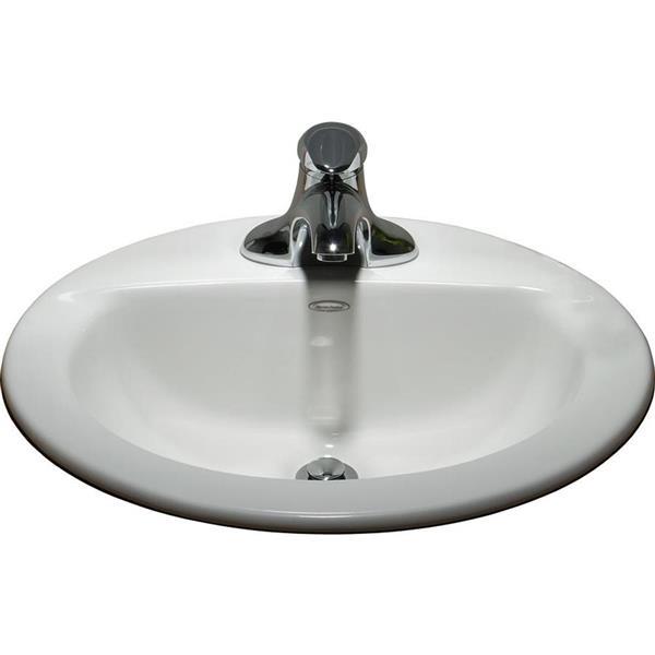 american standard topmount oval bathroom sink