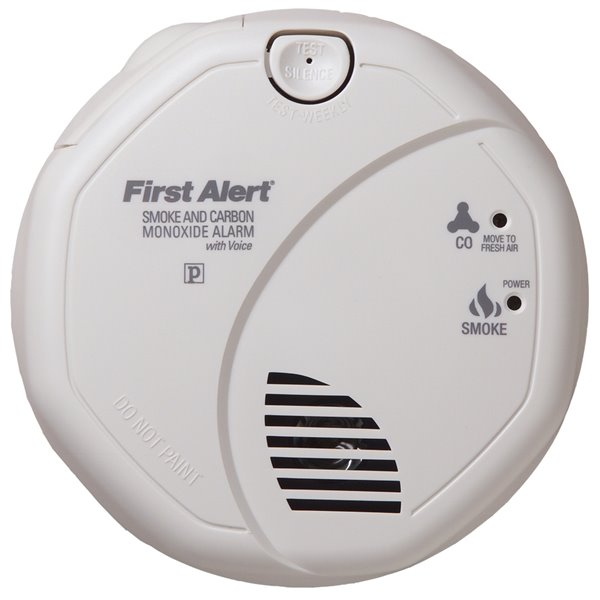 First Alert Ac Hardwired Combination Smoke And Carbon Monoxide Detector With Battery Back Up Lowe S Canada