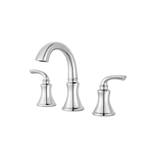 https www lowes ca product bathroom sink faucets pfister solita polished chrome 2 handle widespread watersense bathroom sink faucet with drain valve included 473434