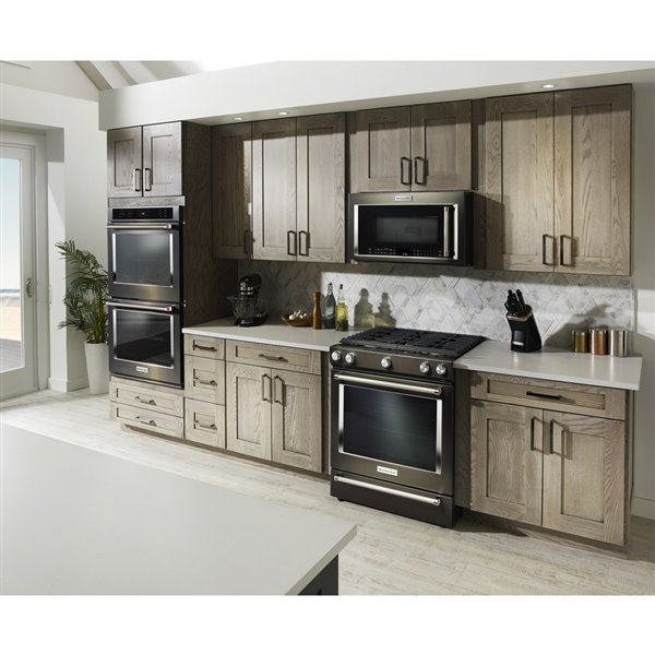 kitchenaid 30 in 1 9 cu ft over the range convection microwave black stainless steel