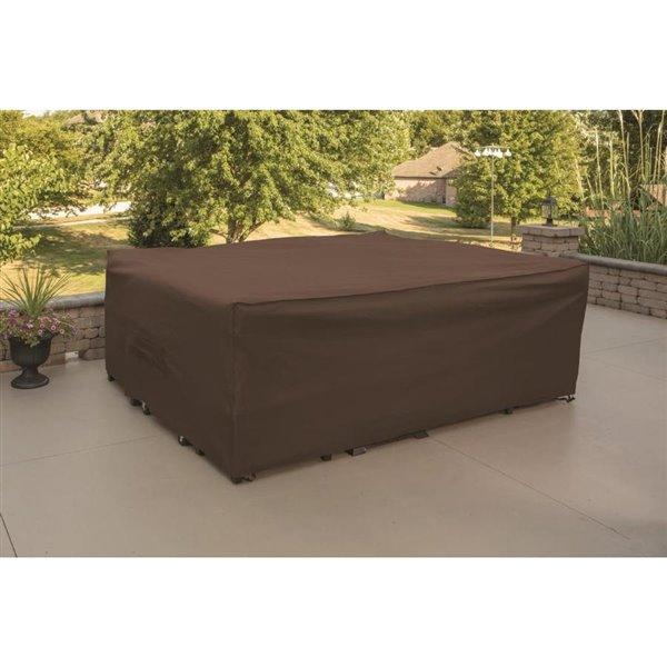 premium brown patio chair set cover