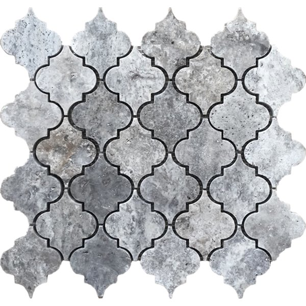 avenzo 12 in x 12 in silver lantern natural stone travertine mosaic wall tile
