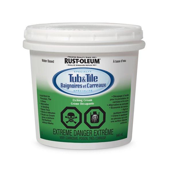 rust oleum rust oleum specialty tub tile etching cream