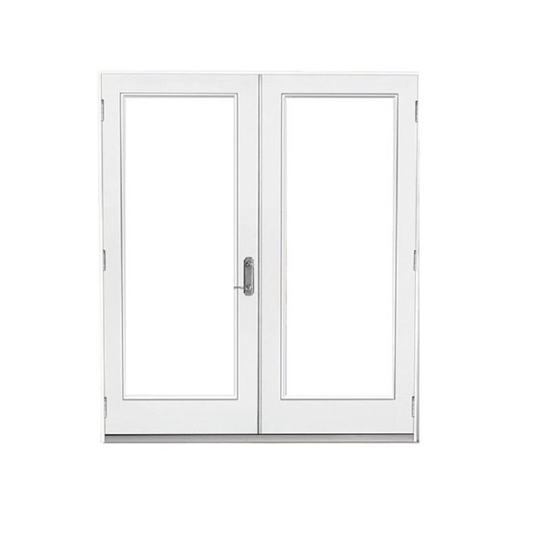 60 in x 80 in clear glass primed steel left hand outswing french patio door