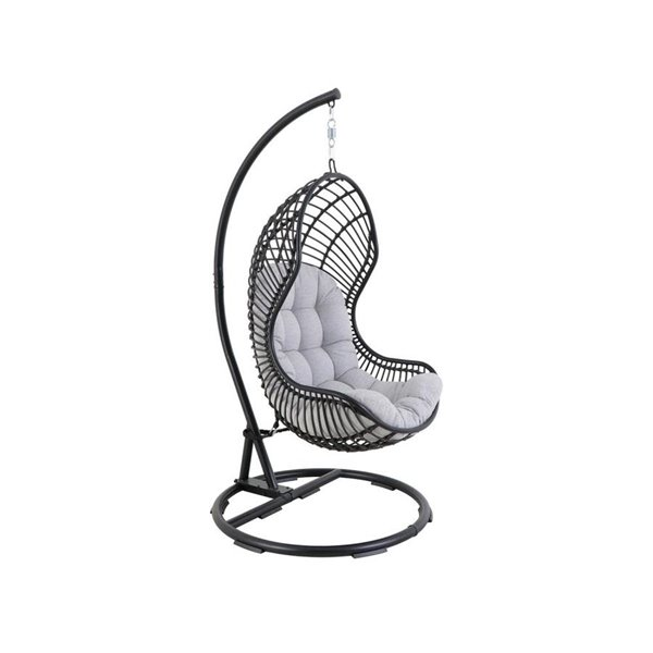 Style Selections Cresley Hanging Chair 41 34 In X 77 17 In Black Lowe S Canada