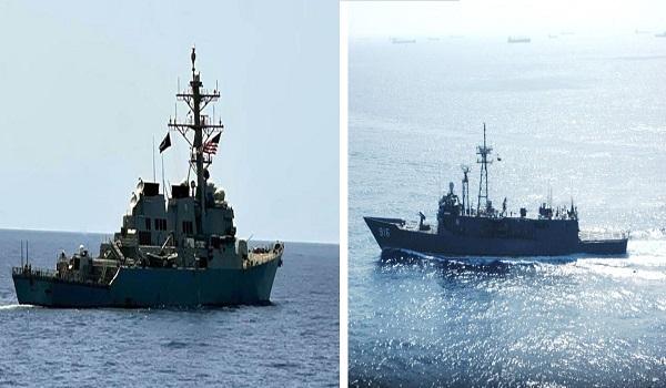 البحرية المصرية والأمريكية تنفذان تدريبا عابرا في البحر الأحمر (صور)