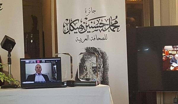 الزميل محمد أبو الغيط يفوز بجائزة هيكل للصحافة العربية: لم أشعر بمذاق للسعادة مثل اليوم.. أتمنى أن ألقاكم قريبًا وجهًا لوجه