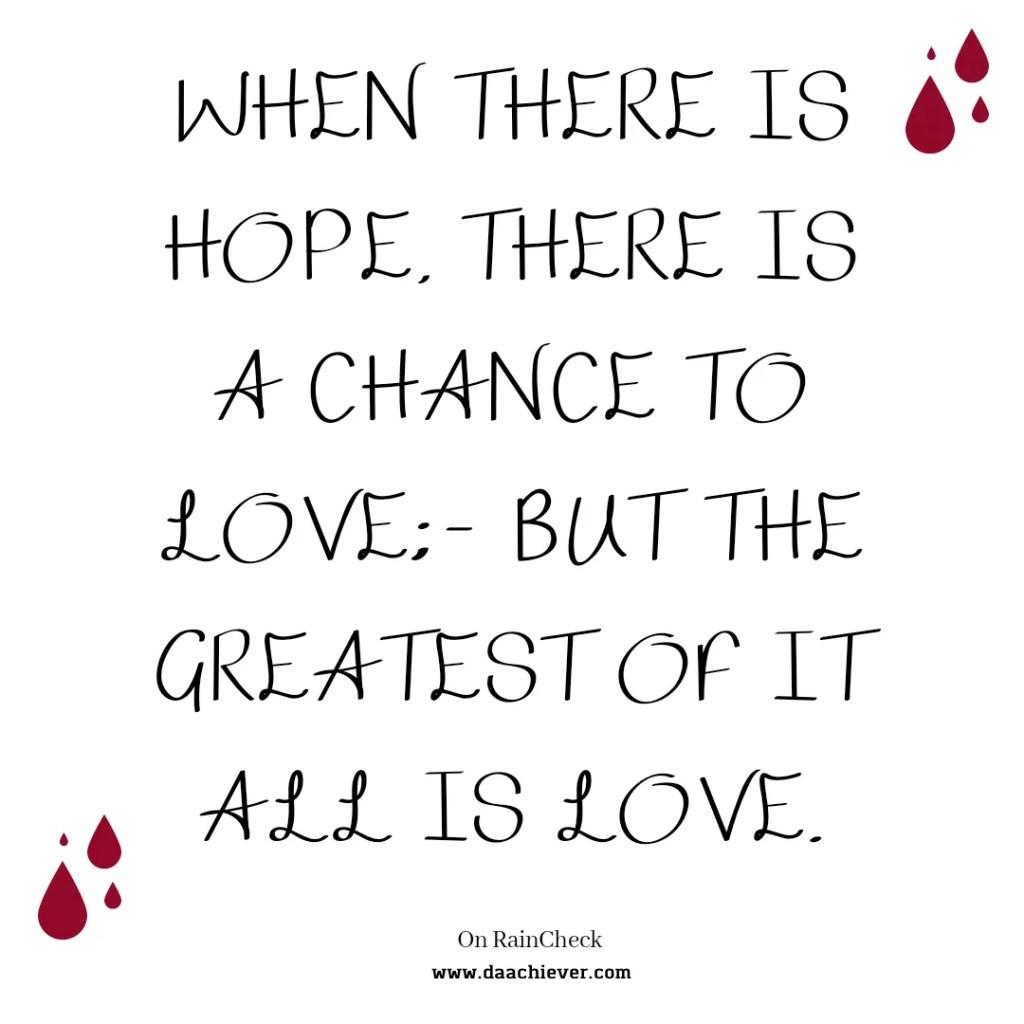 Rain Check 1: A Choice Between Love and Hope