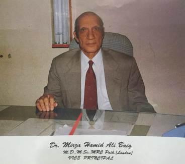 Dr. Mirza Hamid Ali Baig, Vice Principal