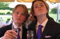 Met Willem-Geert aan de champagne (2004)